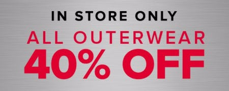 All Outerwear 40% Off