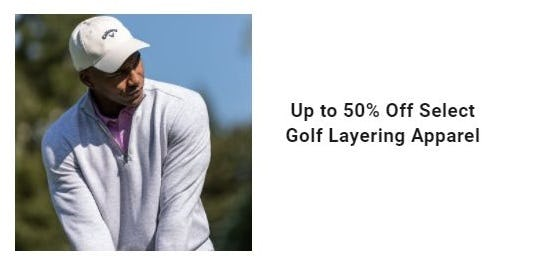 Up to 50% Off Select Golf Layering Apparel from Dick's Sporting Goods