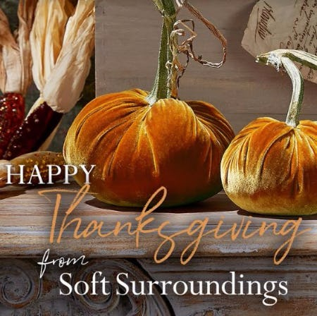 Happy Thanksgiving from Soft Surroundings!