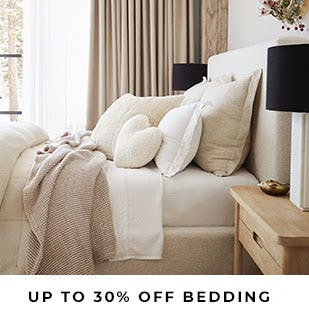 Up to 30% Off Bedding from Pottery Barn