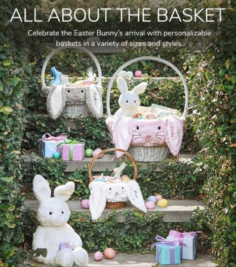 A Basket just for Them from Pottery Barn Kids