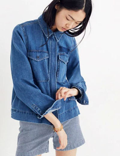 Denim Army Swing Jacket from Madewell