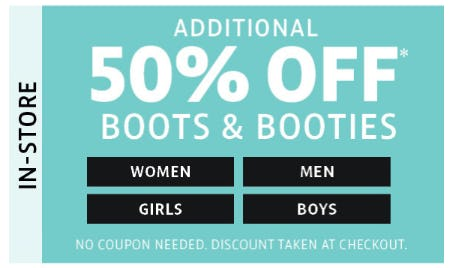 50% Off Boots & Booties from Stein Mart