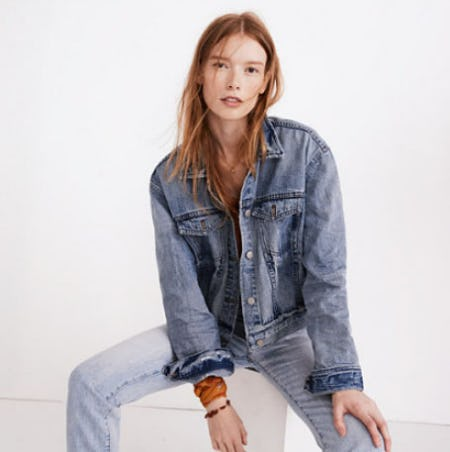 The Boxy Crop Jean Jacket in Woodcourt Wash from Madewell
