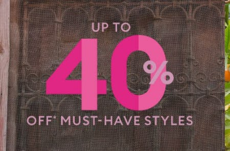 Up to 40% Off Must-Have Styles from Banana Republic