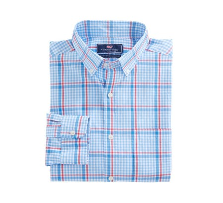 Palmer Island Plaid Classic Murray Shirt from vineyard vines