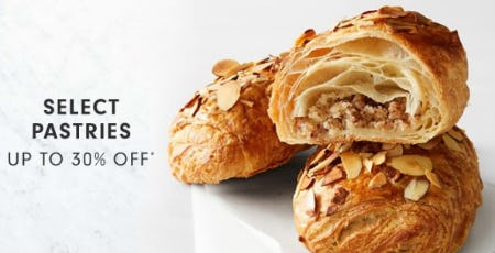 Up to 30% Off Select Pastries