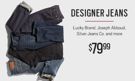 Designer Jeans $79.99 from Men's Wearhouse and Tux