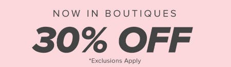 30% Off Select Styles from francesca's
