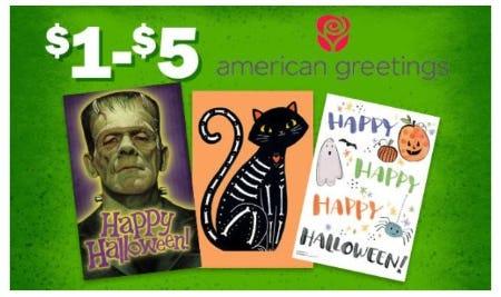 $1–$5 American Greetings from Five Below