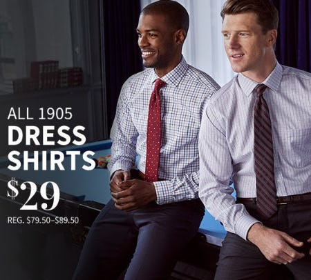 All 1905 Dress Shirts $29 from Jos. A. Bank