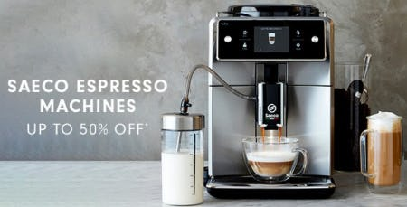 Saeco Espresso Machines up to 50% Off from Williams-Sonoma