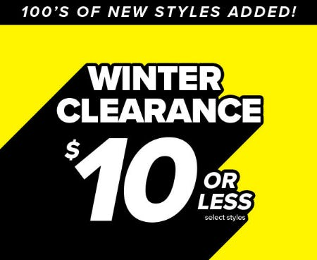 $10 or Less Select Styles