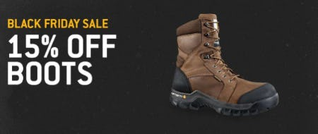 Black Friday Sale: 15% Off Boots from Carhartt