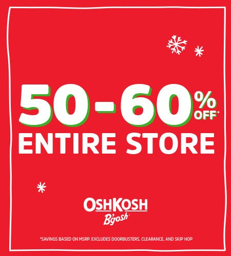 Black Friday 50-60% Off* Entire Store from Oshkosh B'gosh