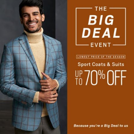 Sport Coats & Suits up to 70% Off
