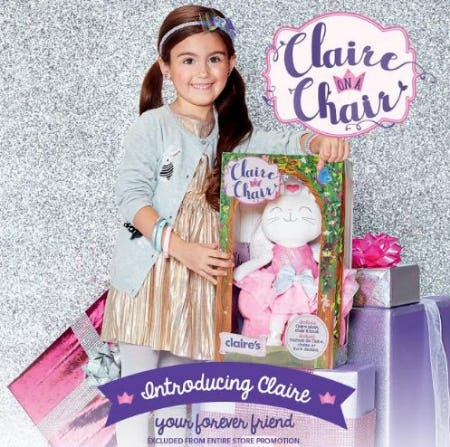 Introducing Claire on a Chair! from Claire's