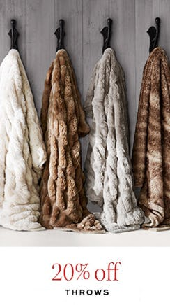 20% Off Throws from Pottery Barn