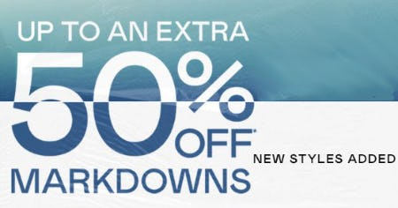 Up to an Extra 50% Off Markdowns from Pacific Sunwear