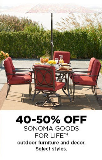 40-50% Off Outdoor Furniture & Decor