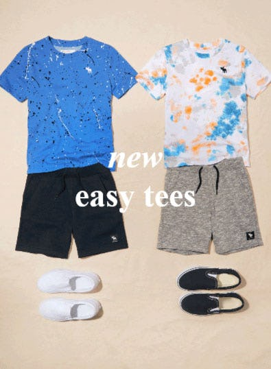 New Easy Tees from Abercrombie Kids