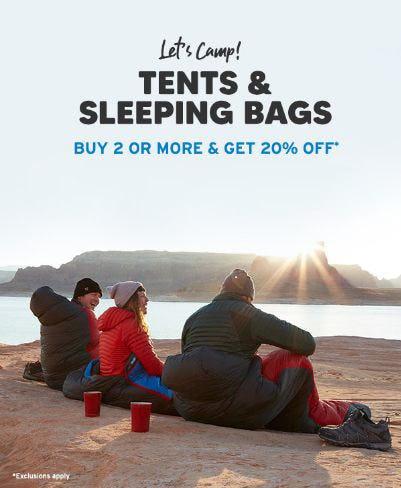 Tents & Sleeping Bags Buy 2 or More Get 20% Off from Eddie Bauer