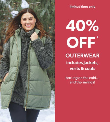 40% Off Outerwear from maurices