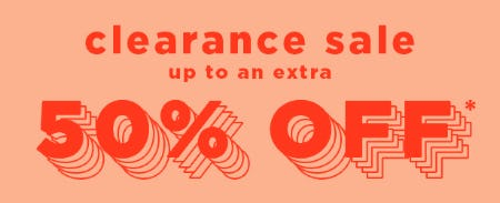Up to an Extra 50% Off Clearance Sale