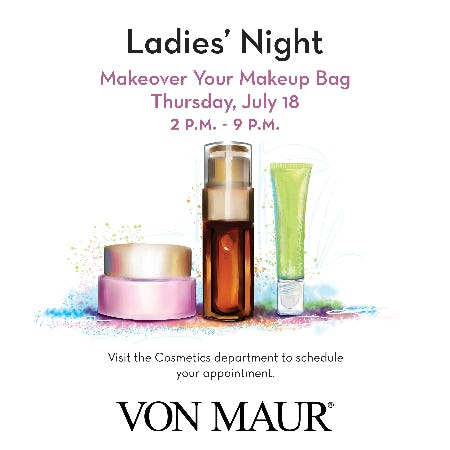 Ladies Night Makeover your Makeup Bag from Von Maur