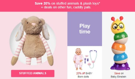 Save 20% Stuffed Animals from Target