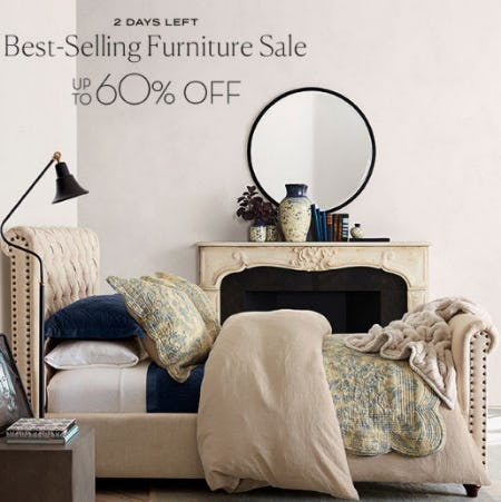 Up to 60% Off Best-Selling Furniture Sale from Pottery Barn