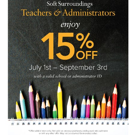 Soft Surroundings Teacher Appreciation Discount