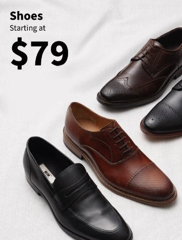 Shoes Starting at $79 from Jos. A. Bank