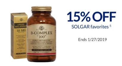 Solgar Favorites 15% Off