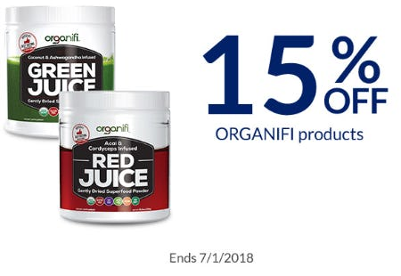 15% Off ORGANIFI Products from The Vitamin Shoppe