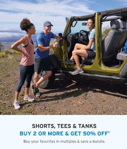 Buy 2 or More & Get 50% Off Shorts, Tees & Tanks from Eddie Bauer