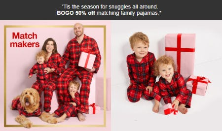 BOGO 50% Off Matching Family Pajamas