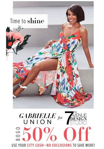 Gabrielle Union Collection BOGO 50% Off from New York & Company
