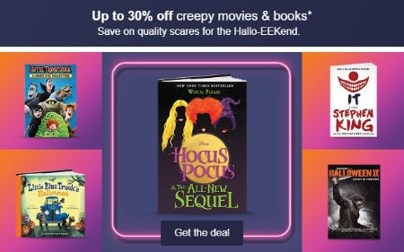 Up to 30% Off Creepy Movies & Books from Target