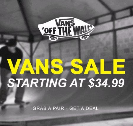 55cc16e655e Vans Sale Starting at  34.99