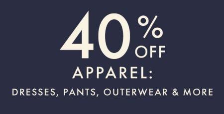 40% Off Apparel