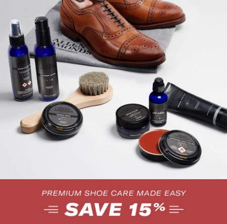 Save 15% on Premium Shoe Care from Allen Edmonds