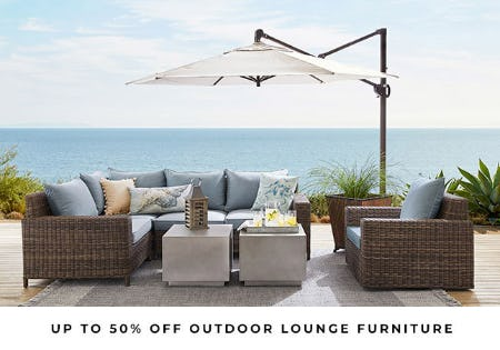 Up to 50% off Outdoor Lounge Furniture from Pottery Barn