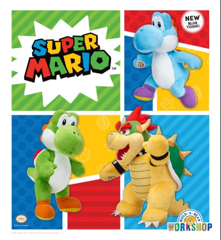 Just in from the Mushroom Kingdom: NEW Super Mario Arrivals! from Build-A-Bear Workshop