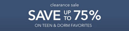 Up to 75% Off Clearance Sale