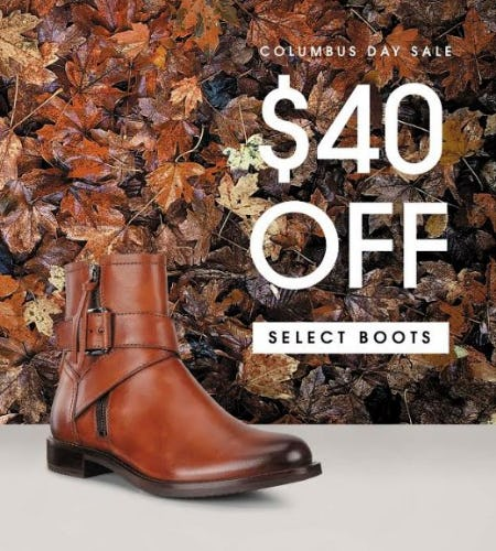 $40 Off Select Boots from ECCO