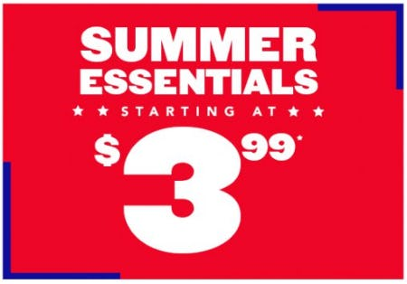 Summer Essentials Starting at $3.99 from The Children's Place