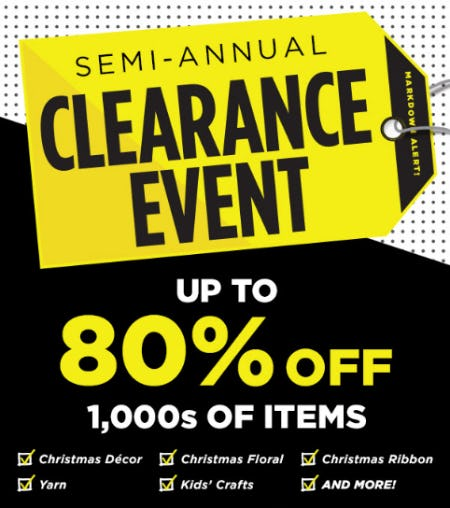 Semi-Annual Clearance Event