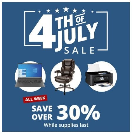 4th of July Sale: Save Over 30% from Office Depot