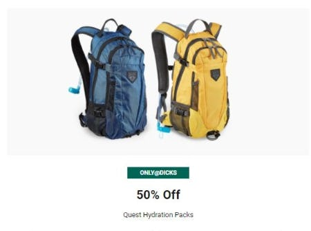 50% Off Quest Hydration Packs from Dick's Sporting Goods